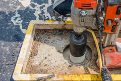 Testing for Compaction using Coring. Test Royalty Free Stock Photos