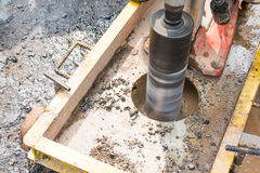 Testing for Compaction using Coring. Test Stock Images