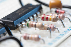 Testing electronic circuit Royalty Free Stock Images