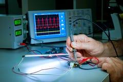 Testing of electronic equipment Stock Photo