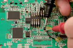 Testing electronics Royalty Free Stock Photo
