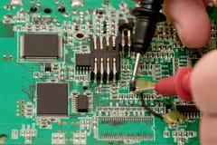 Testing electronics Royalty Free Stock Photo