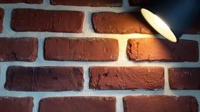 Brick wall and spot light.  Stock Photos