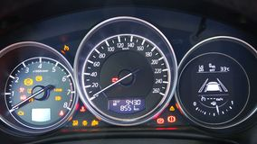Dashboard Of A Car With Engine Sound  Stock Footage - Video