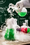 Testing new chemical reactions in academic laboratory Stock Photos