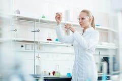 Testing new vaccine Stock Photo
