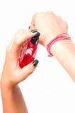 Testing perfume Stock Photos