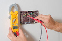 Testing thermostat voltage Royalty Free Stock Photography
