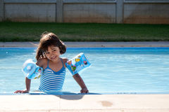 Testing the water temperature Royalty Free Stock Photo