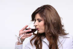 Testing wine. Stock Photography