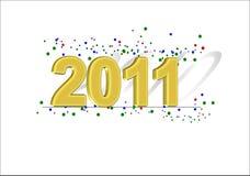testo 2011 con ombra 2010 Immagine Stock