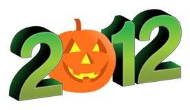 testo 2012 e disegno di Halloween Immagini Stock Libere da Diritti