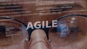 Testo agile su fondo di sviluppatore stock footage