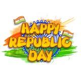Testo alla moda per la celebrazione indiana di giorno della Repubblica Immagine Stock