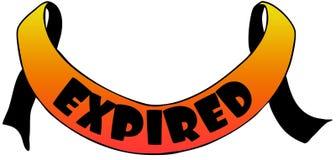 Testo arancio del withEXPIRED del nastro Immagini Stock Libere da Diritti