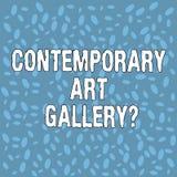 Testo Art Galleryquestion contemporaneo della scrittura Semitono della galleria commerciale privata del forprofit di significato  illustrazione vettoriale
