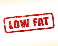 Testo a bassa percentuale di grassi attenuato Fotografia Stock