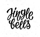 Testo calligrafico dell'iscrizione di vettore di Jingle Bells Immagine Stock Libera da Diritti