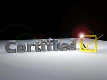 Testo certificato 3D Fotografia Stock Libera da Diritti