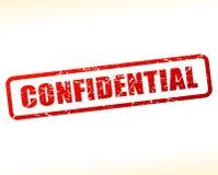 Testo confidenziale attenuato su fondo bianco Fotografia Stock