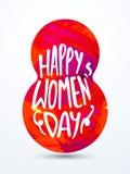 Testo creativo per la celebrazione del giorno delle donne Immagini Stock Libere da Diritti