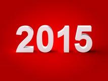 testo 2015 3d Fotografia Stock Libera da Diritti
