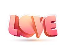 testo 3D per la celebrazione di giorno del ` s del biglietto di S. Valentino Fotografia Stock Libera da Diritti