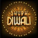 testo 3D per la celebrazione felice di Diwali Fotografia Stock Libera da Diritti