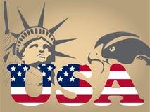 Testo degli S.U.A. Immagini Stock Libere da Diritti