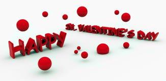 Testo dei biglietti di S. Valentino della st Fotografia Stock Libera da Diritti