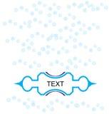 Testo dei fiocchi di neve Fotografia Stock
