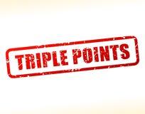 Testo dei punti tripli attenuato Immagini Stock Libere da Diritti