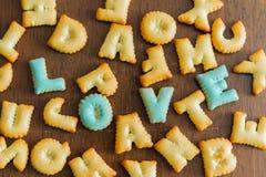 testo del biscotto Fotografie Stock Libere da Diritti