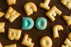 testo del biscotto Immagini Stock