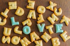 testo del biscotto Immagine Stock