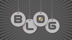 testo del blog 3d che appende sulle corde royalty illustrazione gratis