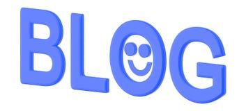 testo del blog 3d con il emoji sorridente felice royalty illustrazione gratis