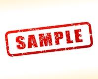 Testo del campione attenuato su fondo bianco Immagine Stock