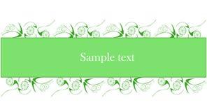 Testo del campione su priorità bassa verde illustrazione vettoriale