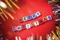 Testo del cubo di Natale Immagine Stock Libera da Diritti