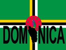 Testo del Dominica con il programma royalty illustrazione gratis