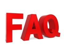 Testo del FAQ Fotografia Stock