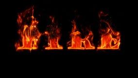 Testo del fuoco Immagini Stock