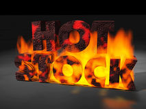 Testo del fuoco delle azione calde Fotografia Stock