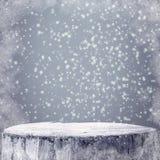 Testo del projectsspace del gelo della neve di inverno dei grafici del fondo di inverno fotografia stock
