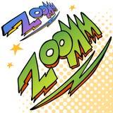 Testo del suono del bullone dello zoom Fotografia Stock