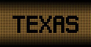 Testo del Texas sull'illustrazione dei segnali di pericolo di uragano royalty illustrazione gratis