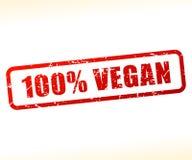 Testo del vegano attenuato Immagine Stock
