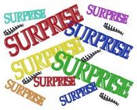Testo dell'invito 3D del partito di sorpresa Fotografie Stock