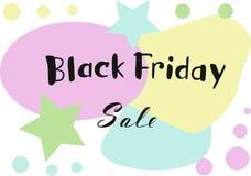 Testo dell'iscrizione del ` di vendita di Black Friday del ` Fotografia Stock